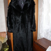 Классная крутая шуба в пол из волка 2-3 XXL