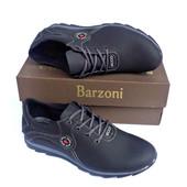 Кожаные спортивные туфли Barzoni №1 чёрные