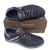 Кожаные спортивные туфли Barzoni №20 чёрные