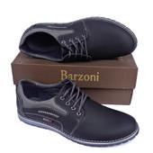 Кожаные спортивные туфли Barzoni №2 чёрные. Размер 44