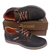 Кожаные спортивные туфли Barzoni №15 коричневые. 43 размер