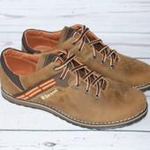 Новинка! Кожаные мужские туфли, цвет олива, Barzoni