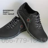 Новинка! Кожаные мужские туфли в стиле Ecco