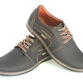 Демисезонные кожаные мужские туфли