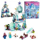 Конструктор Ледяной дворец Эльзы 314 деталей. Ледяное сердце. Аналог Лего