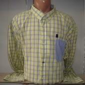 Мужская рубашка с длинным рукавом 73. Очень большой размер.