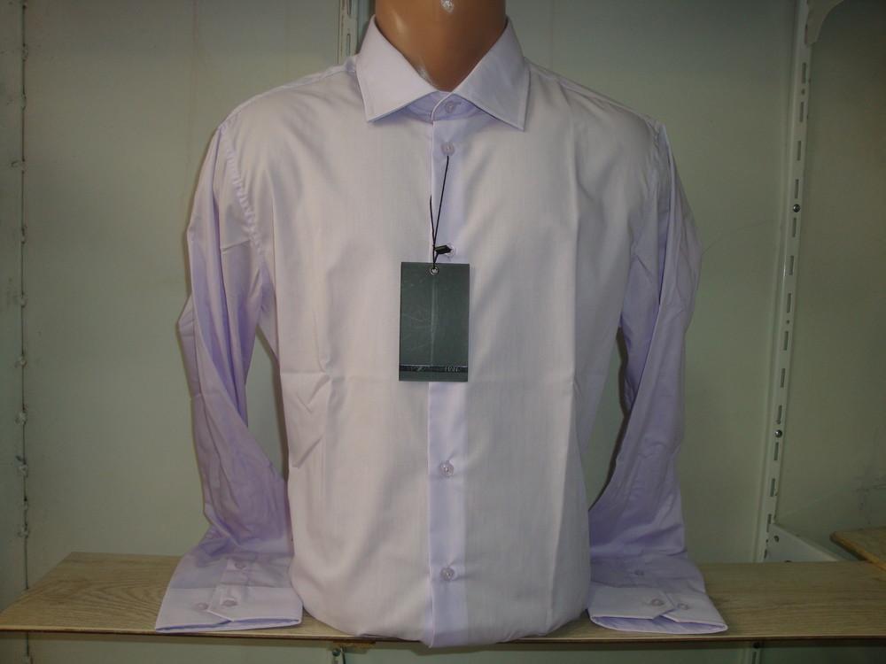 Распродажа мужской однотонной рубашки с длинным рукавом Piazza Italia Man. Разные цвета. фото №1