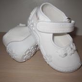 Текстильные тапочки Vi-gga-mi Baby girl-59  нарядные, для девочки, белые р.18-22 вигами viggami