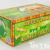 Домик с мансардой Игротеко Конструктор из дерева (дуб) - 126 деталей