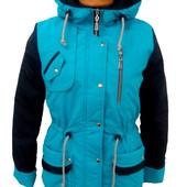 Суперовая демисезонная куртока парка на девочку (36-42)
