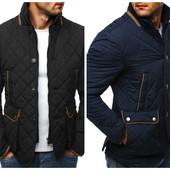 Стеганая мужская осенняя куртка пиджак