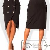 7294 Стильная практичная юбка 4 цв