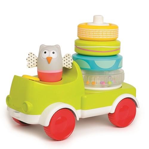 Taf toys развивающая машинка с пирамидкой совушка малышка фото №1