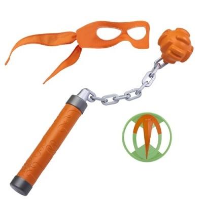 Tmnt набор игрушечного оружия серии эволюция черепашек-ниндзя снаряжение микеланджело черепашки  фото №1