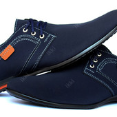 Мужские стильные туфли синего цвета (БМ-01АС)