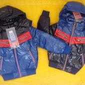 Зимние фирменные курточки Nature для мальчиков от 4 до 6 лет.