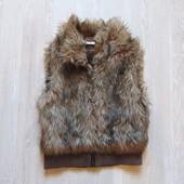 Меховая жилетка для девочки. H&M. Размер 12-13 лет. Состояние: новой вещи