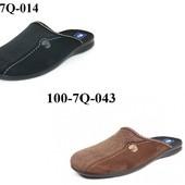 100-7Q-014 ,100-7Q-043 , Тапочки мужские домашние Inblu цвет - см фото, материал - велюр, р-ры 40-46