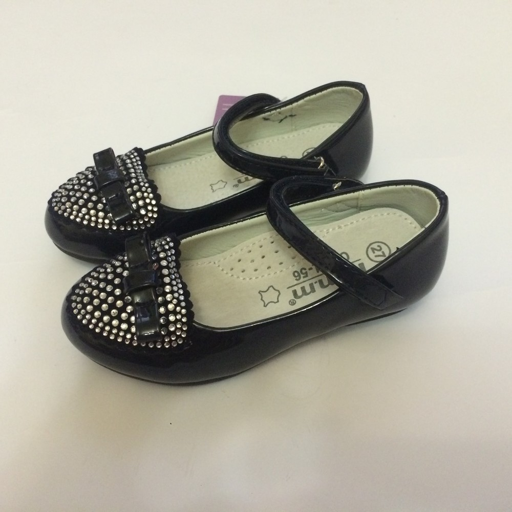 Туфли для девочки со стразами том.м синие фото №2