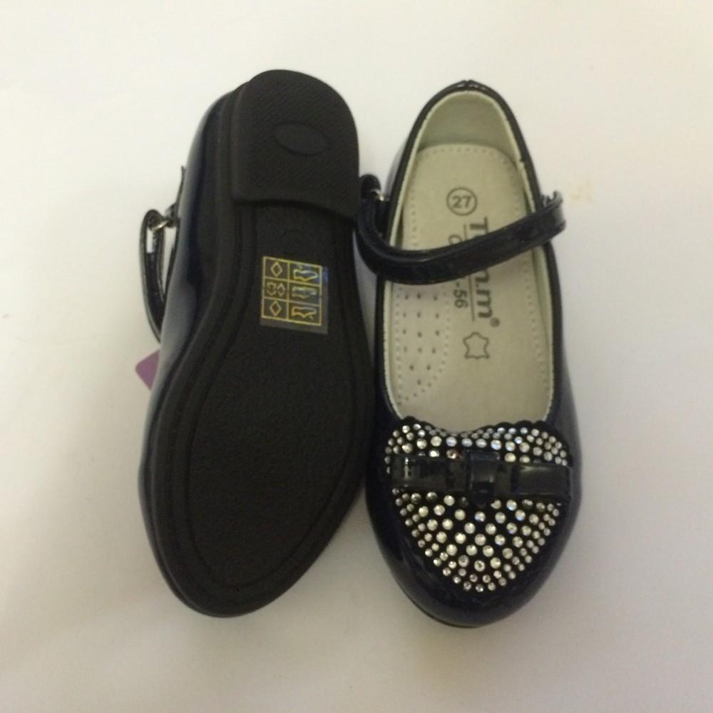 Туфли для девочки со стразами том.м синие фото №6