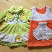 Теплые платье и сарафан 1-2 года
