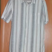 Фирменная Х/Б мужская рубашка на лето р.Л-ка