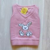 Новая жилетка для маленькой принцессы. Внутри на котоновой подкладке. Baby Cool. Размер 3 месяца