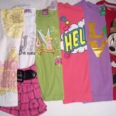 6 футболочек для модницы 5-6 лет