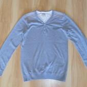 Мужской серый свитер М