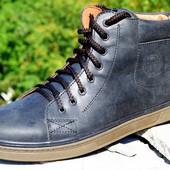 мужские кожаные ботинки деми/зима цвета Код:М  331