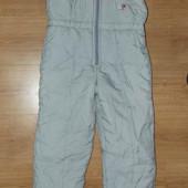 Зимние штаны лыжные теплые полукомбинезон S-М