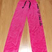 Акция!Фирменные велюровые брюки для девочки 8-9 лет, 128-134 см
