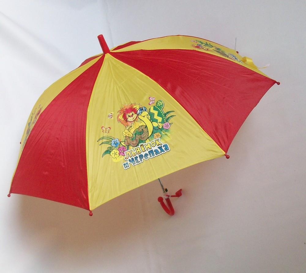 Зонтик с героями м/ф, полуавтомат фото №1
