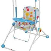 Детская качель кресло 2в1 Q01-PVC-4