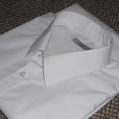 Рубашка белая с длинным рукавом. 45 - 46 см