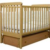 Детская кроватка Veres Соня ЛД 12 продольный маятник c ящиком 4 цвета