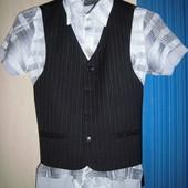 Костюм тройка и рубашки для мальчика в школу на 2-4 класс