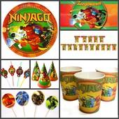 2 вида! Посуда и декор для Дня рождения в стиле Ниндзяго (Ninjago)