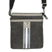 Мужская стильная тканевая сумка серая (Е-54127)