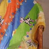 Детский плед одеяло Зеброчки