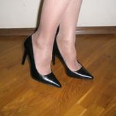 Кожаные туфли mango 36 разм