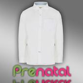 Рубашка классическая белая для мальчиков 2-8 лет фирмы Prenatal Италия