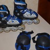 ролики раздвижные skates модель aspect размер 27-30