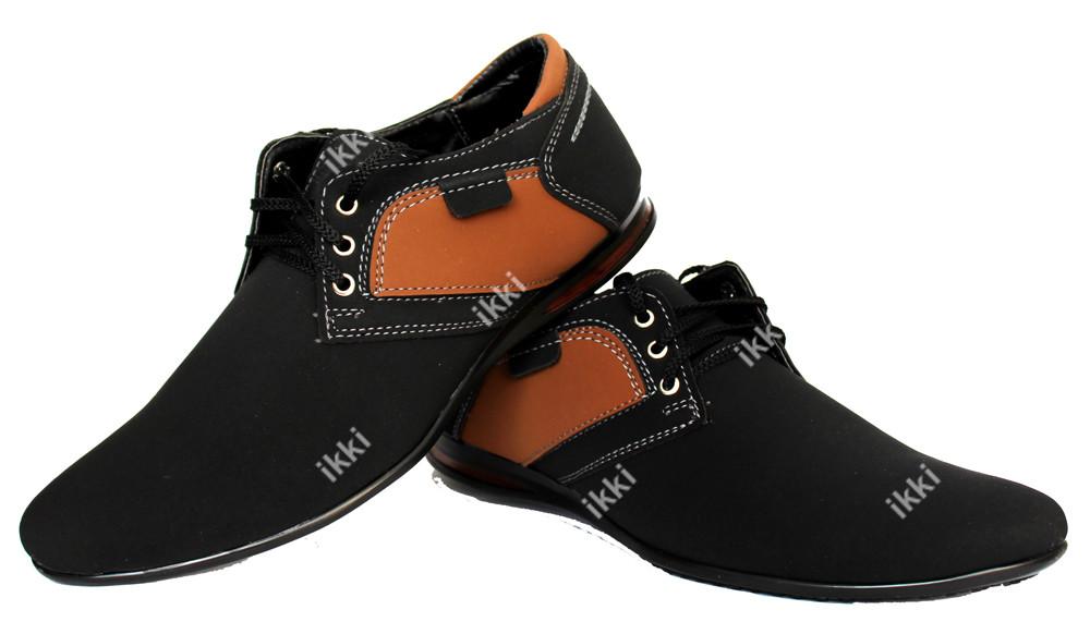 Мужские стильные туфли - мокасины черные (бм-01вч) фото №1
