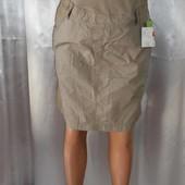 Бежевая натуральная юбка для будущих мам, р. 36, Yessica