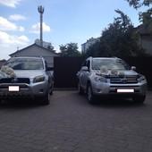 весільний кортеж Toyota RAV4 в срібному або чорному кольорі