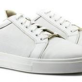 Мегаsalе. Стильные кожаные кроссовки трендового белого цвета