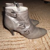 Кожаные ботинки.Размер 36