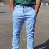 Новые! Клевые мужские джинсы,Турция, серые, разм 34 Узкачи