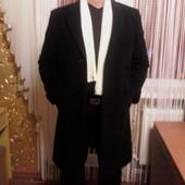Шикарное фирменное мужское пальто шерсть ламы 100% Пог-55 см.